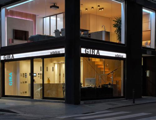 Rotulación Showroom GIRA | Barcelona